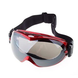 Anti Fog Dual Lens Winter Sport Ski Snowboard Goggles Red Frame