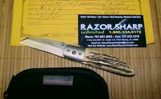 Custom Hand Made Knife Folder By FRANK J DILLUVIO Warncliff Blade ATS