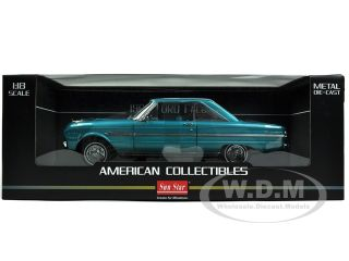 diecast car model of 1963 Ford Falcon Hard Top Ming Green die cast car