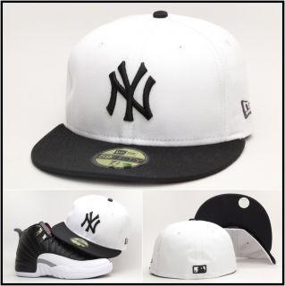 New Era New York Yankees Custom Fitted Hat for Air Jordan Retro 12 XII