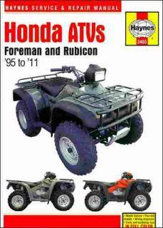 1995 2011 Honda Foreman 400 450 Rubicon 500 ATV Repair Shop Service