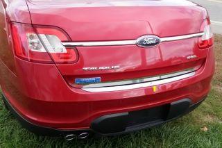 New 10 12 Ford Taurus Rear Bumper Cap Mirror Polished Car Chrome Trim