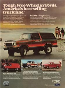 Bronco Ad Tough Free Wheeling Fords Best Selling Truck Line