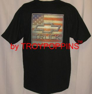 American Chevy Truck Chevrolet Bow Tie Flag Symbol T Shirt Graphic