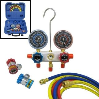 New Professional AC Air Conditioner Freon Manifold Gauge Kit Set R134a