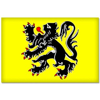 Flanders Flemish Flag Car Bumper Sticker Decal 5 x 4