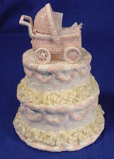 Teena Flanner Papermaiche Baby Girl Cake Topper/Figurine NEW!