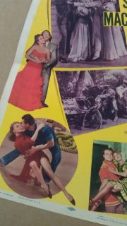 Excuse My Dust Movie Poster Insert 1951 Original Folded 14x36 Red