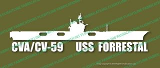 CVA 59 CV 59 USS Forrestal Carrier Navy Vinyl Sticker