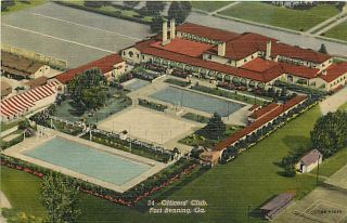 GA Fort Benning Officers Club Swimming Pool T95677