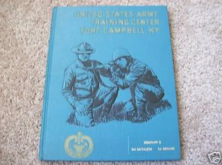 1971 Fort Campbell KY Army Unit Book Vietnam Era Nice