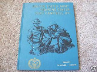 1971 Fort Campbell KY Army Unit Book Vietnam Era Nice