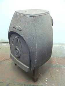 Vintage Franklin Cast Products Scandia Wood Stove, Cast Iron, Arts
