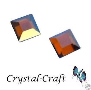 Copper Square Swarovski Crystals Hot Fix Flat Back 3mm