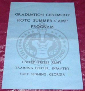 Graduation Ceremony ROTC Program Fort Benning GA 1968