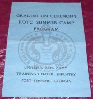 Graduation Ceremony ROTC Program Fort Benning GA 1968