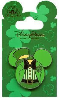 Disney St Patricks Day 2012 Pin Mickey Mouse Icon DLR
