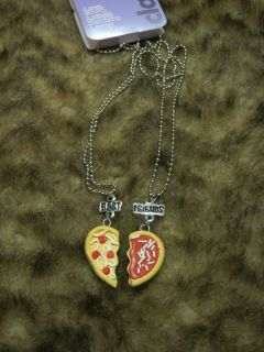 Friends Pizza Pie Necklace Fashion Jewelry Friendship Necklaces