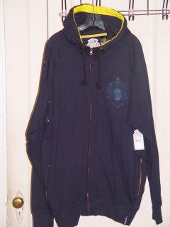 Mens Akademiks Blue Sweater Hoody Jacket Pants Sweatsuit Hood XXL 2XL