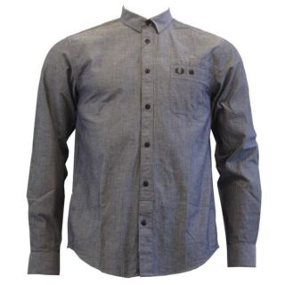 Fred Perry M1341 Chambray Work Shirt Indigo Small Brand New with Tags