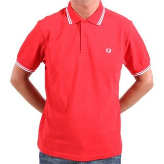 fred perry m1200 red white polo shirt size xl original style fred
