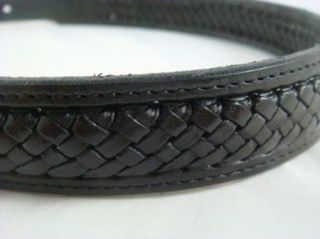 Western Sterling Silver And Black Leather Fritch Bros Belt Size 26