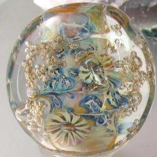 encased silver glass accened wih handmade murrine and brass fris