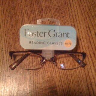 New Foster Grant Reading Glasses 0 75 Metal Frame