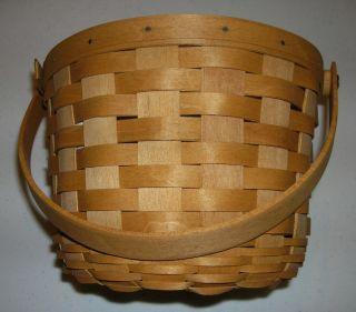 Longaberger Medium Fruit Basket w Protector 2003