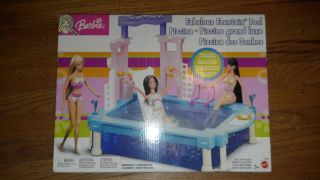 New in The Box Barbie Fabulous Fountain Pool Playset Mattel New