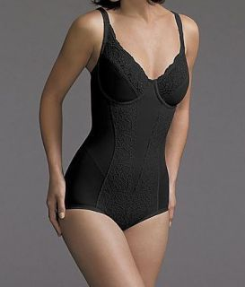Flexees Ultimate Slimmer Body Briefer with Lace Black
