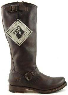 Frye Veronica Slouch Dark Brown Womens Designers Shoes High Riding