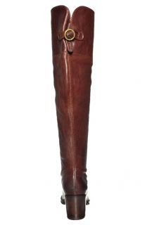 Frye Womens Boots Lucinda Slouch Dark Brown Leather 76965 Sz 8 M