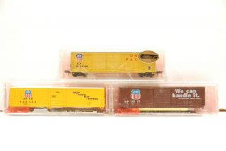 Free Shipping 3 Union Pacific Railroad 50 Box Cars Roundhouse Kits