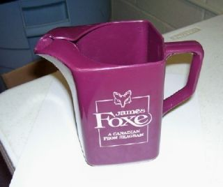 Vintage James Foxe Seagrams Canadian Whiskey Pitcher