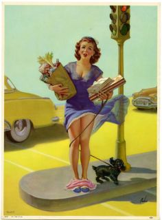 Art Frahm 52 Pin Up Print Cheesecake Themed No Time to Go