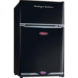 Compact Mini Refrigerator Freezer Double Small Dorm Fridge Food Ice