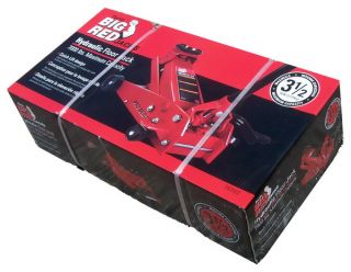 New 3 1/2 TON 3.5 Garage Big Red HYDRAULIC FLOOR CAR LIFT JACK