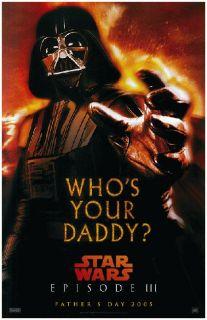Star Wars Darth Vader Promo Poster Episode III 2005