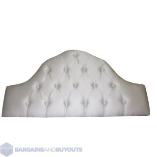 Furniture Tufted Silk Like Upholstered High Arch Full/Queen Headboard