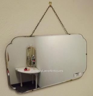 Antique Beveled Edge Scalloped Frameless Mirror S202 24 x 14