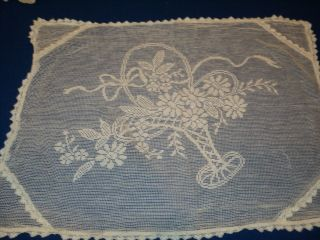 Antique Lace Floral Table Cover French