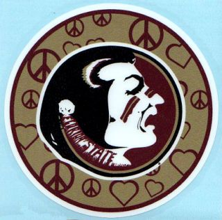 Florida State Seminoles PEACE AND LOVE CIRCLE Vinyl Decal Car Truck