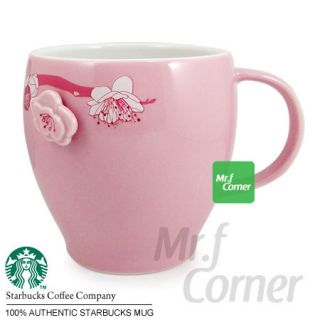 Starbucks Pink Cherry Blossom Flower Travel Cup Mug New 2012