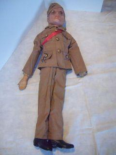 Antique Freundlich 26 Composition Soldier Doll 1942 Circa