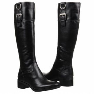 Franco Sarto Black LEATHER Jonas Riding Boots RARE Size 11 M