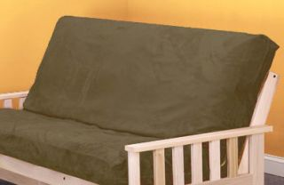 Micro Suede Futon Cover Moss Green Plush Full Size