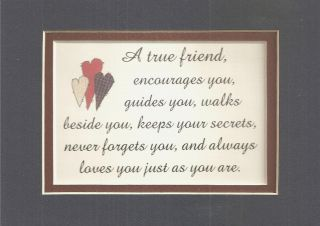 True Friends Friendship Encourages Verses Poems Plaques