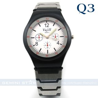 Rubber Band Men Boy Military Force Army Stylish Sport Watch