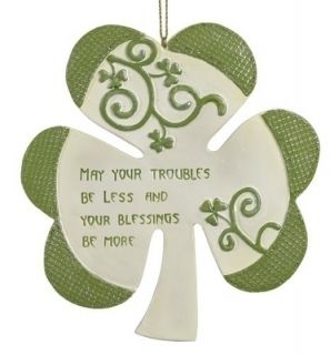 blessing shamrock christmas ornament roman irish blessing shamrock